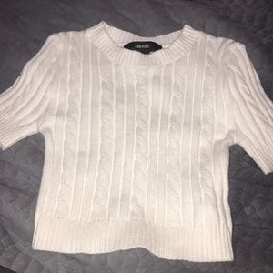 forever 21 cropped sweater tee